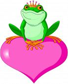 Illustration of Frog Prince waiting to be kissed
