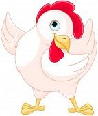 Illustration of very cute hen