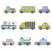 Car icon set