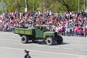 Russian Military Transport At The Parade On Annual Victory Day