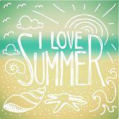 I Love Summer Doodle
