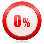 0 percent icon sale sign