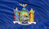 3D New York Flag