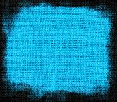 Picton blue burlap textured background
