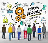 Human Resources Employment Teamwork People Rear View Concept