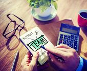 Team Accounting Working Office Cooperation Connection Group Concept