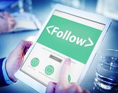 Folllow Connection Social Networking Media Concepts