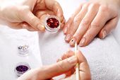 stock photo of acetone  - Decorations of nails - JPG