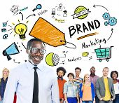 Diverse People Togetherness Team Marketing Brand Concept