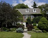 Large landscaped house