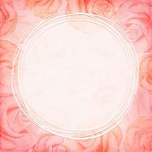 Abstract romantic rose background in red colors. Vector