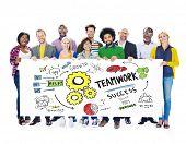 Teamwork Team Together Collaboration Group People Banner Concept
