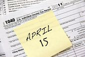 stock photo of income tax  - Federal income tax form 1040 - JPG