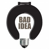 Light Bulb Bad Idea Concept