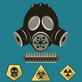 Gas Mask Flat Illustration