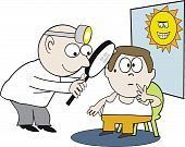Doctor examination cartoon