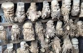 Bamboo Root Carvings Of Happy Old Men.