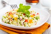 image of tabouleh  - tabbouleh made of couscous and various vegetables - JPG