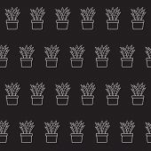 Vector background with houseplant