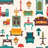Living Furniture Seamless Pattern
