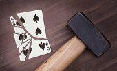 Hammer With A Broken Card, Six Of Spades