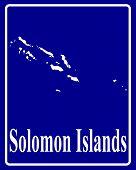Silhouette Map Of Solomon