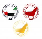 Made In United Arab Emirates Stamp