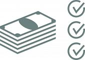 Stack Of Money Icon - Stock Illustration