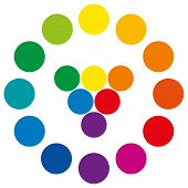 picture of color wheel  - Color wheel with circles - JPG