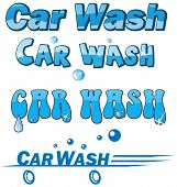stock photo of car symbol  - car wash symbol set