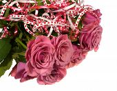 A bouquet pink roses