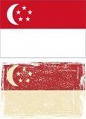 Singapore grunge flag. Vector illustration.