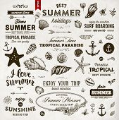 picture of bon voyage  - Set of Summer Elements - JPG