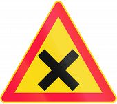 picture of crossroads  - Road sign 161 in Finland  - JPG