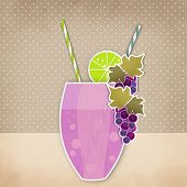 picture of grape  - Cocktail grape background - JPG