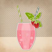 image of strawberry  - Cocktail strawberry background - JPG