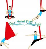 stock photo of anti  - Aerial Yoga - JPG