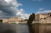 Leeds Castle And Lake In Kent England
