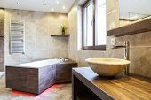 image of amaze  - Amazing interior of the bathroom in a fashionable apartment - JPG