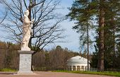 foto of garden sculpture  - Allegorical ancient garden sculpture in the park of Pavlovsk - JPG
