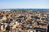 pic of bordeaux  - aerial view of the city of Bordeaux in france - JPG