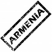 stock photo of armenia  - Vector rubber stamp with name ARMENIA - JPG