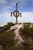 stock photo of pentecostal  - the tassel on top mount Questenberg  - JPG