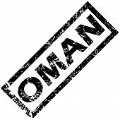 foto of oman  - Vector rubber stamp with name OMAN - JPG
