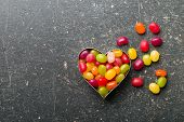 picture of jelly beans  - the heart made from jelly beans - JPG