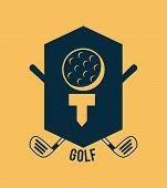 stock photo of miniature golf  - golf design over cream background vector illustration - JPG