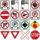 pic of traffic rules  - Collection of several common traffic signs in Canada - JPG