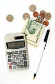 Calculator With Money And Coins