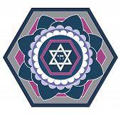 Design estrela judaica