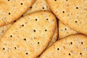 Layer Of Whole Wheat Crackers